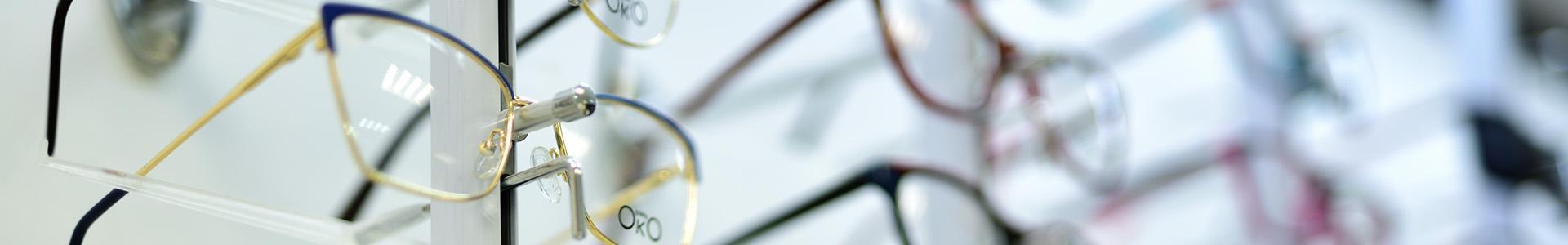 okulary korekcyjne z żółtą oprawką